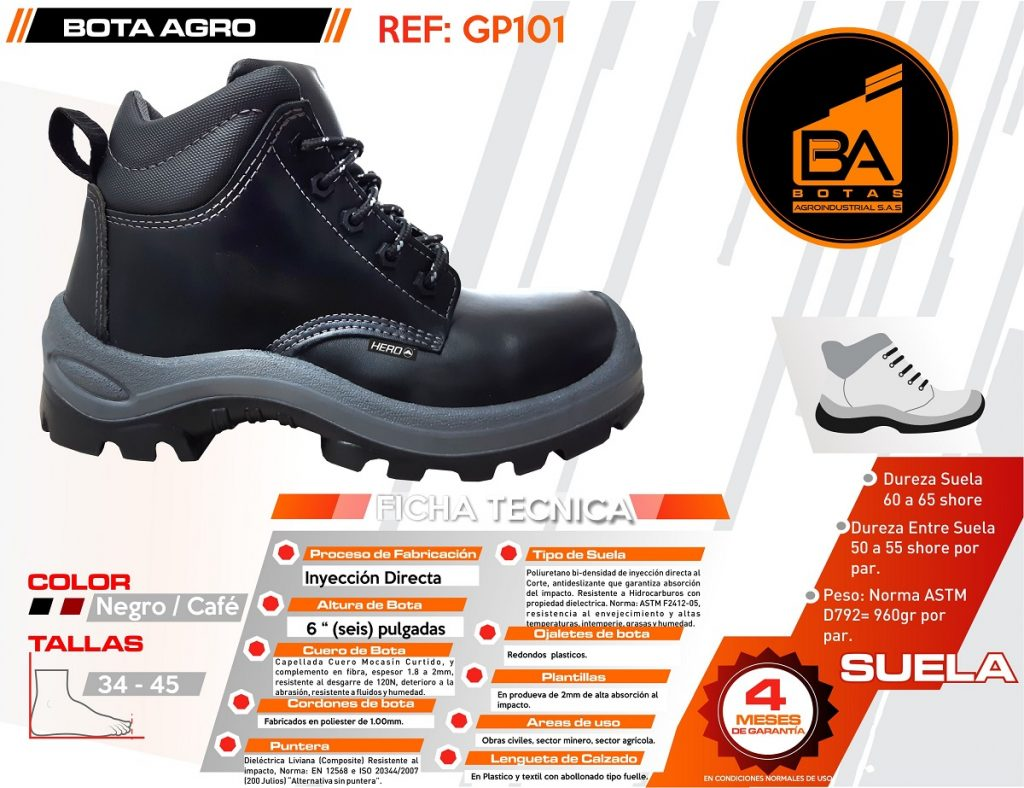 Botas calzado industrial proteccion