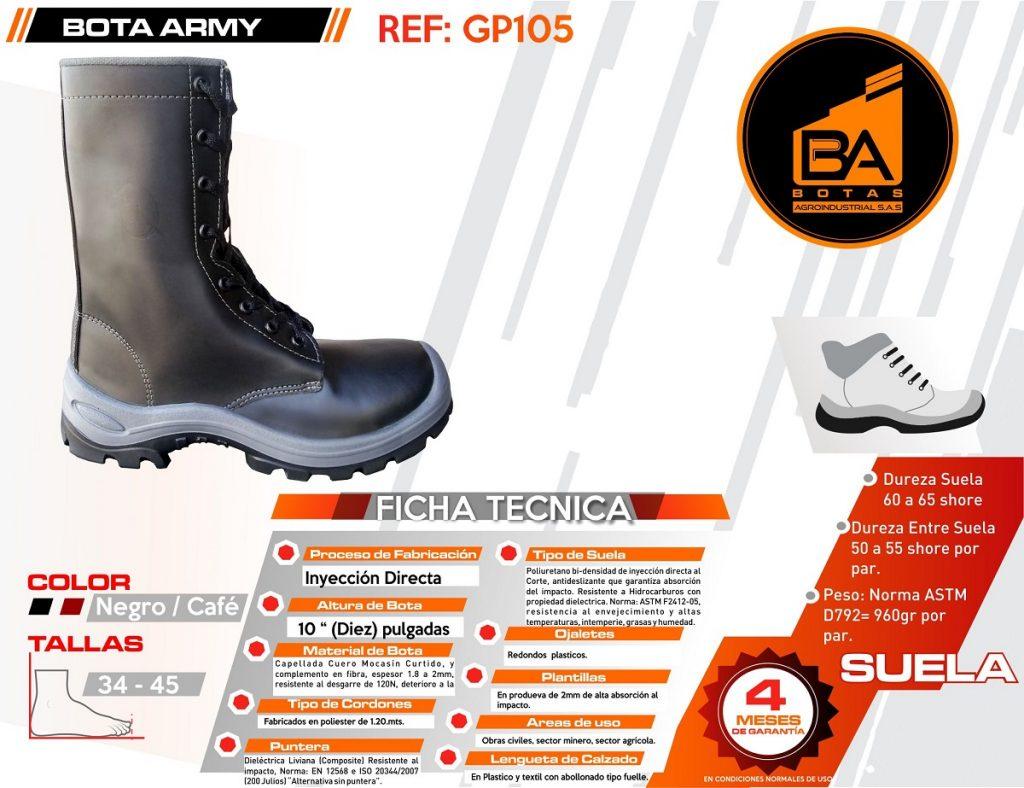 Botas calzado industrial alta carnes
