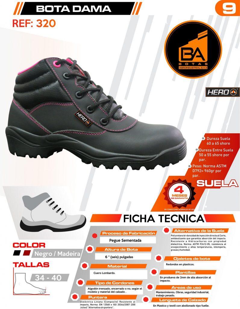 Botas calzado industrial mujer dotaciones