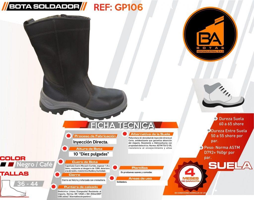 Botas calzado industrial pantano