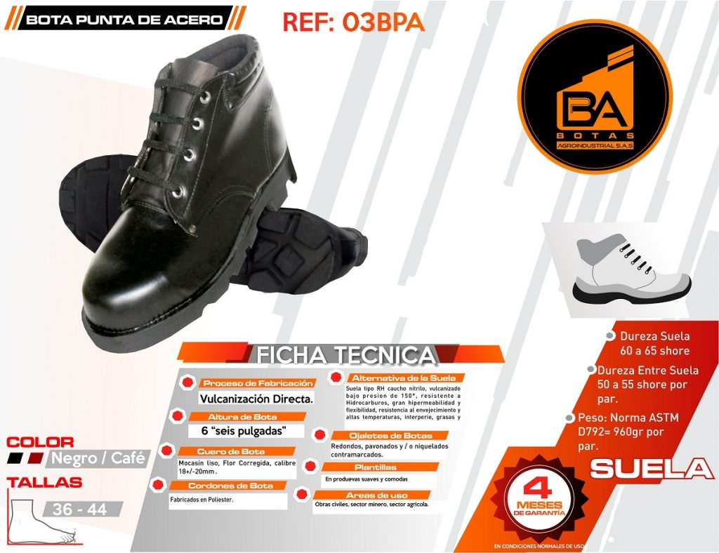 Botas calzado industrial obras