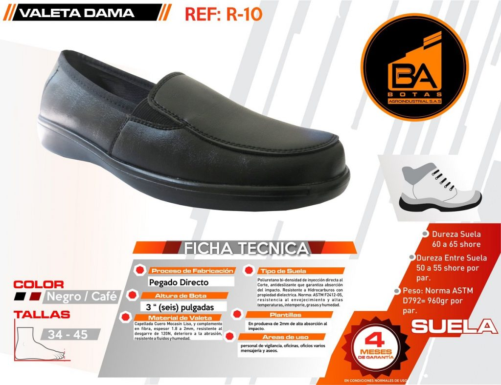 Botas calzado industrial para dama